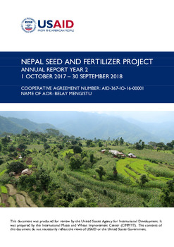 NEPAL SEED AND FERTILIZER PROJECT